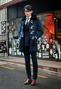 Fur-blue-Duffel-coat-for-men